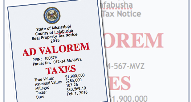 Pay Your Ad Valorem Taxes