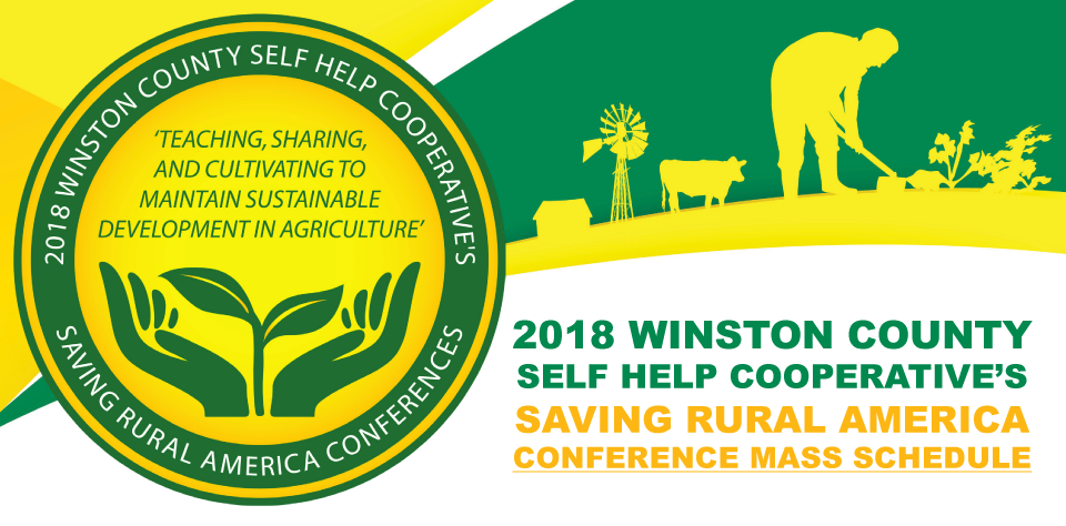 2018 WCSHC's Saving Rural America Conference Mass Schedule